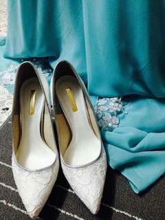 White Lace Wedding Shoes