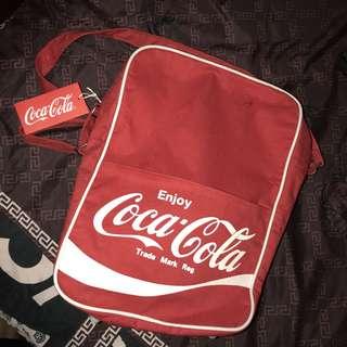 🚚 古著 老品 送杯子 美國 Coca-Cola 可口可樂 復古 肩背包 側背包