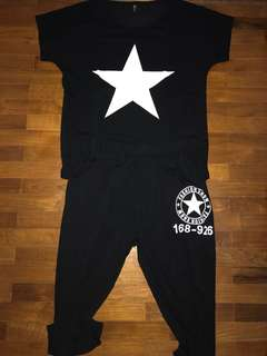 Stars black top + bottom