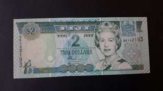 2 dollars Fiji-Queen Elizabeth for sale,,