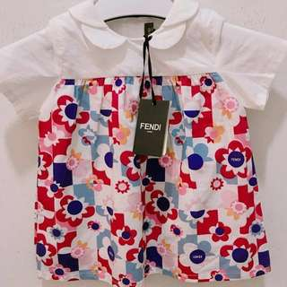 🆕👶🏻👧🏻SALE🎉🛍 Authentic FENDI Dress for 3 months old girl #midmay75