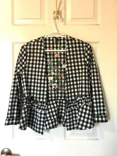 Gingham light spring jacket
