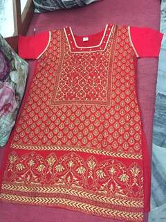 (BN) Promotion for this week-Red Gold Designed worked Kurti #list4sbux
