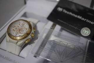 Technomarine Treasure Quest Diamond Gold Watch