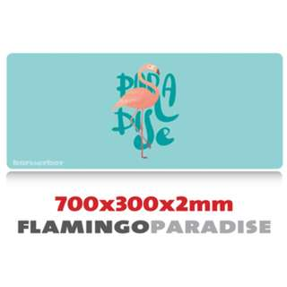 FLAMINGO PARADISE 7030 Extra Large Mousepad Anti-Slip Gaming Office Desktop Coffee Dining Tabletop Decorative Mat