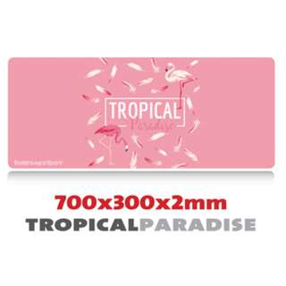 TROPICAL PARADISE 7030 Extra Large Mousepad Anti-Slip Gaming Office Desktop Coffee Dining Tabletop Decorative Mat