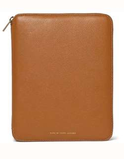 Brown/Tan Full Grain Leather Holder by Marc by Marc Jacobs