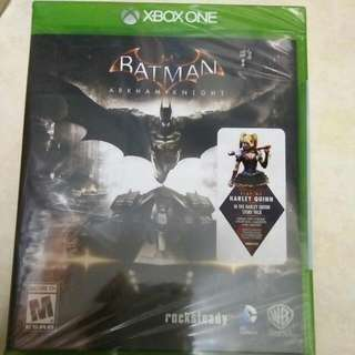 Xbox One S Batman, Arkham Knight, Brand new Sealed With Harley Quinn Dlc