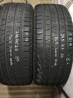 245/45/20 pirelli scorpion verde 2pc available 1pc $60