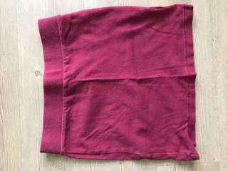 Maroon Miniskirt