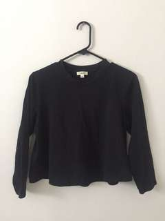 aritzia Wilfred crop long sleeve size m