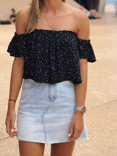 Off shoulder glassons top
