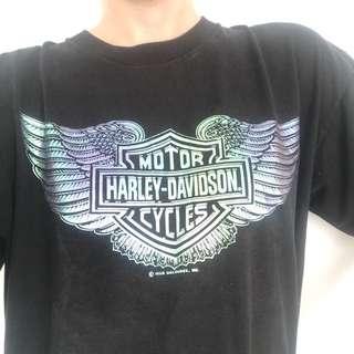 SUPER RARE VINTAGE HARLEY DAVIDSON HOLOGRAPHIC TEE
