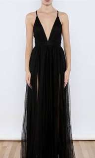 BLACK FORMAL PROM LONG DRESS