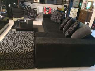 **MOVING OUT SALE!** KING KOIL L-SHAPED SOFA