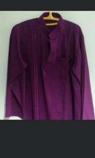 Dark Purple Baju Kurung For Boys