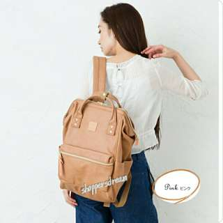 Anello Backpack PU Leather Large AT-B1211 - Pink Khaki