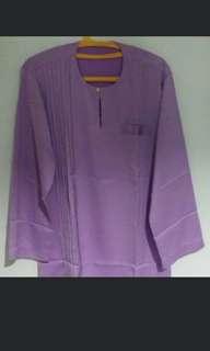 Lavender Purple Boy's Baju Kurung