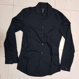 [CLEARANCE] H&M Black Formal Shirt
