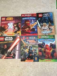 Lego Ninjago, Star Wars books.