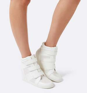 Forever New Perforated Wedge Sneakers Size 38