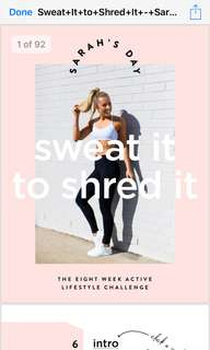 Sarah's day ebook sweat it to shred it