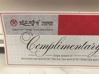 Yakson voucher for slimming treatment