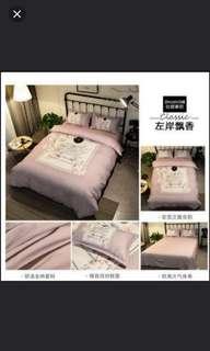 (2套/2sets) 床上用品三件套床單皮袋枕頭套 (1.2m床闊) (homeone系列) (家居系列) (包Buyup自取站取貨) (#rep#) (includes 1 bedsheet, 1 pillow case, & 1 quilt cover)