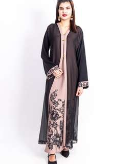 Abaya / Jubah dusty pink, plus sizes available