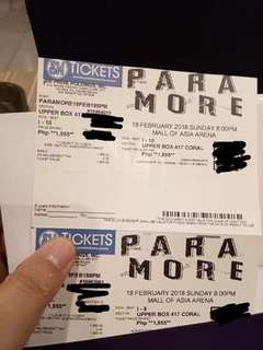 PARAMORE TICKETS UPPER BOX (FOR SWAP ONLY!)