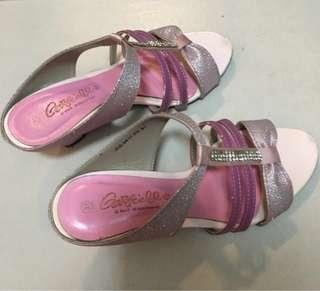 #list4sbux Garfield kid pinky shoes with heels
