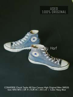 CONVERSE Chuck Taylor All Star Canvas High Men 1W920 ORIGINAL Sepatu Shoes Sneakers Tinggi