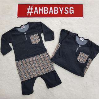 Baby Jumper Melayu ♡ Dark Grey ♡