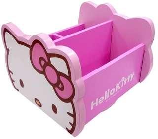 🚚 三麗鷗HELLO KITTY凱蒂貓旋轉收納盒 置物盒 桌上盒 小物盒