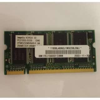 Hynix 256MB DDR 266Mhz CL2.5 PC2100 Laptop Memory