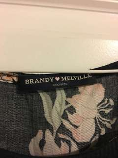 brandy melville flower top