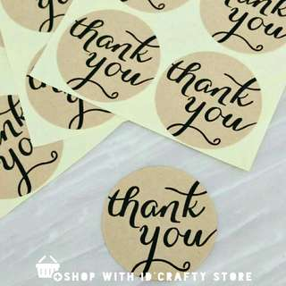 [PROMO | inStock} FREE MAILING - 108PCS THANK YOU STICKERS KRAFT