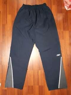 Navy reebok track pants