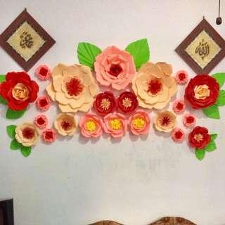 Paper flower 1 set