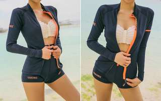 In Stock 💕3 Pieces suit Korean version UV Rash Guard,  Swimsuit, Swimwear, Beach Wear, Snorkel Wetsuit, Sport wear