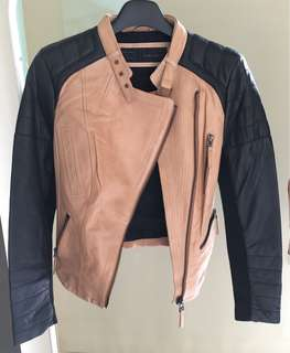 Zara Ladies biker leather jacket