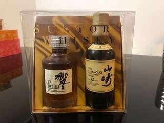 日本威士忌罕有套裝 Hibiki + Yamazaki (每瓶180ml)