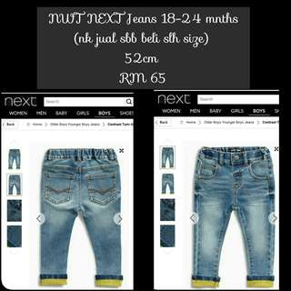 NEXT yellow turn up jeans
