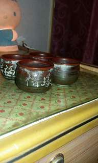 早期茶杯(郭大慶)4個一起賣