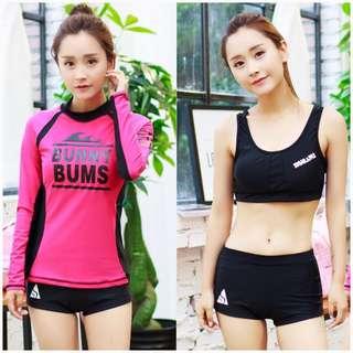 In Stock 💕3 pieces Suit Korean version UV Rash Guard,  Swimsuit, Swimwear, Beach Wear, Snorkel Wetsuit, Sport wear