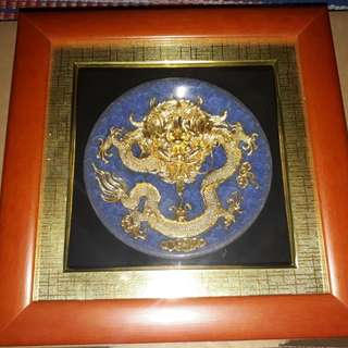 Gold plated dragon display