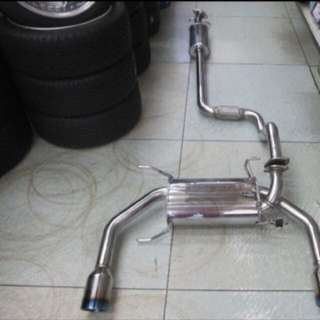 Swift sport zc32 LTA approved greddy exhaust. Mid and back pipe