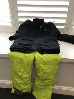 Ski jacket and trousers. Age 13-14 jacket. Dare2be pants size 29.