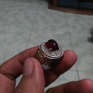 Garnet Ring Titan Uk 8