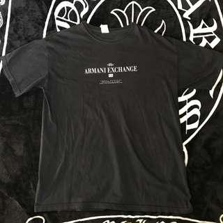 古著 美製  A X Armani Exchange 棉質 大LOGO 舒適 透氣 上衣